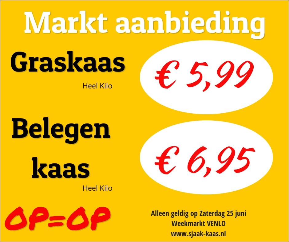 Aanbieding; Exclusief zaterdag op de markt in Venlo